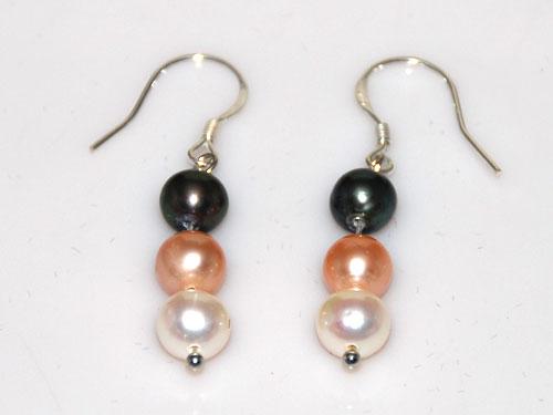 Bracelet Earrin 20 7.5 Inch 7-8mm White Pink Purple Freshwater Pearl Necklace